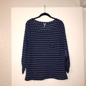 Splendid XL Blue & Black Stripe Shirt!